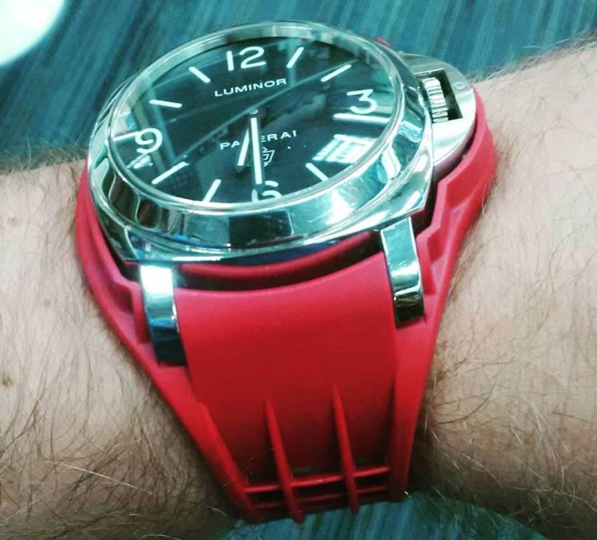 Watch Link : des bracelets de force en caoutchouc pour Luminor
