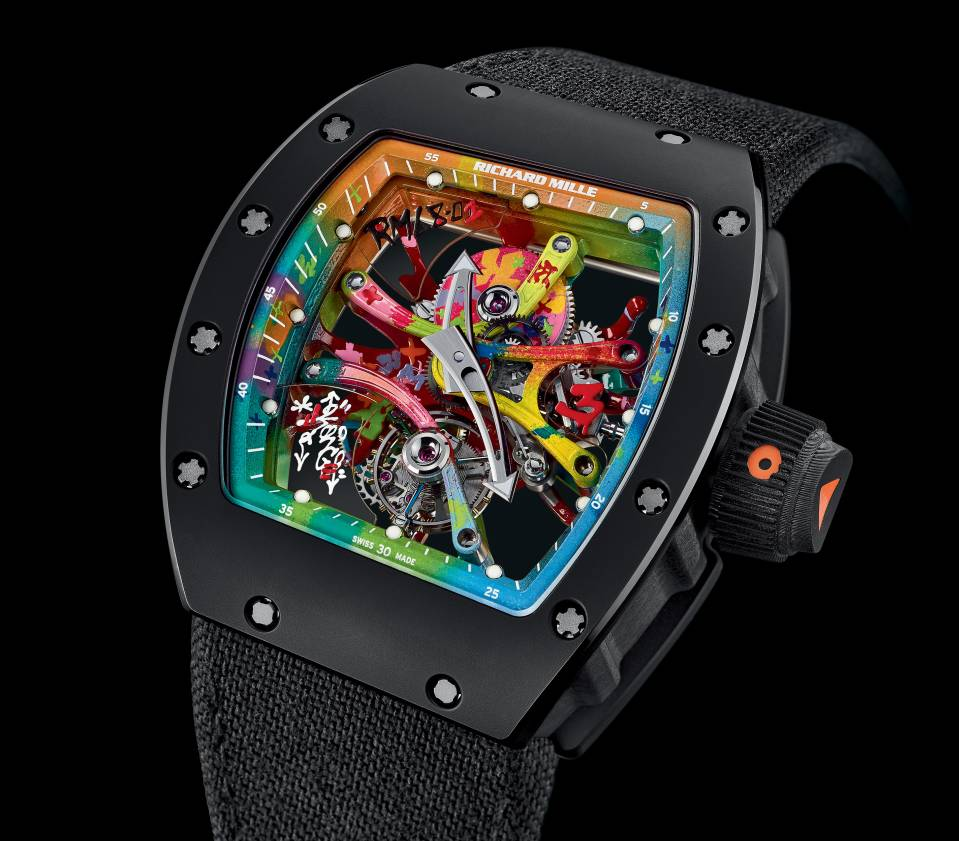 richard mille rm 68 01 cyril kongo colourful watch. Black Bedroom Furniture Sets. Home Design Ideas