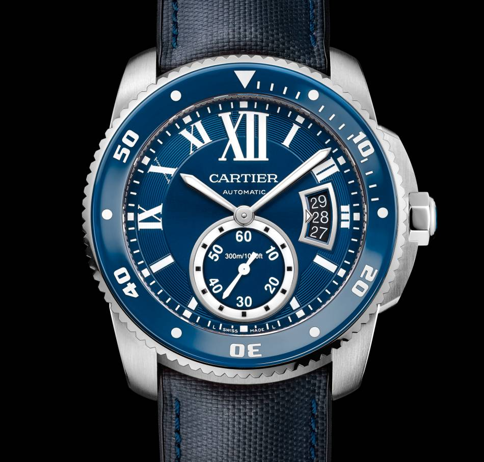 cartier calibre diver bleue. Black Bedroom Furniture Sets. Home Design Ideas
