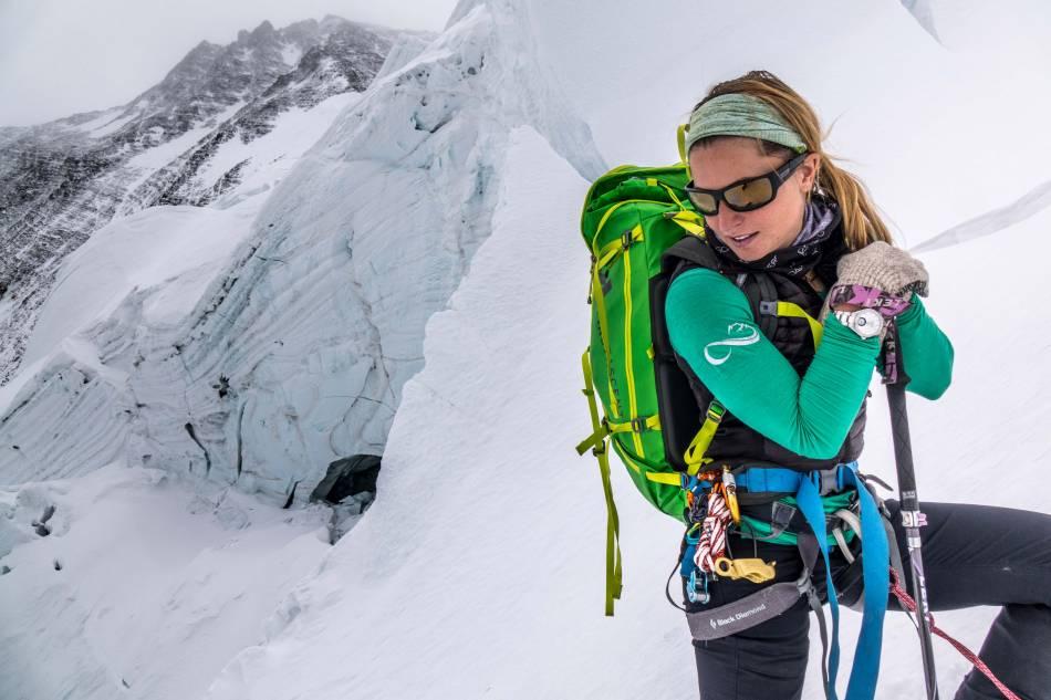 Melissa Arnot, ambassadrice Alpina au sommet de l'Everest