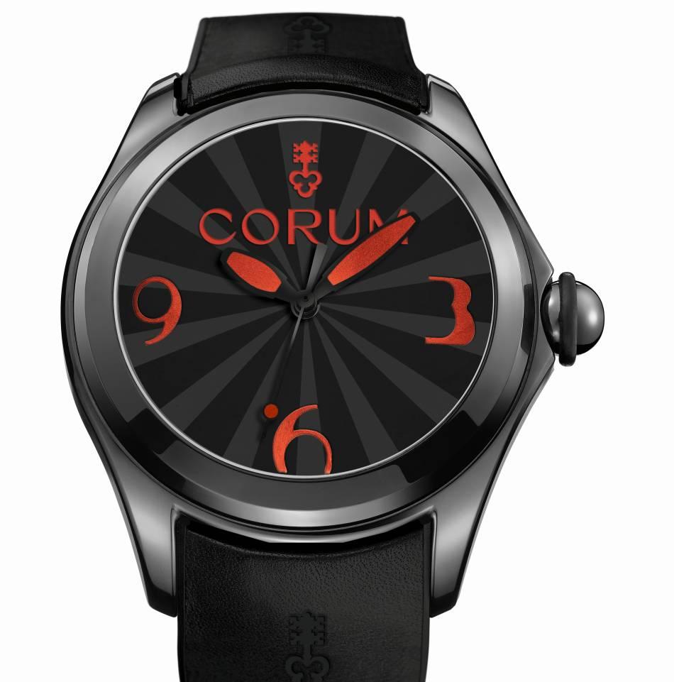 Bubble Corum : full black ou en rouge et noir !