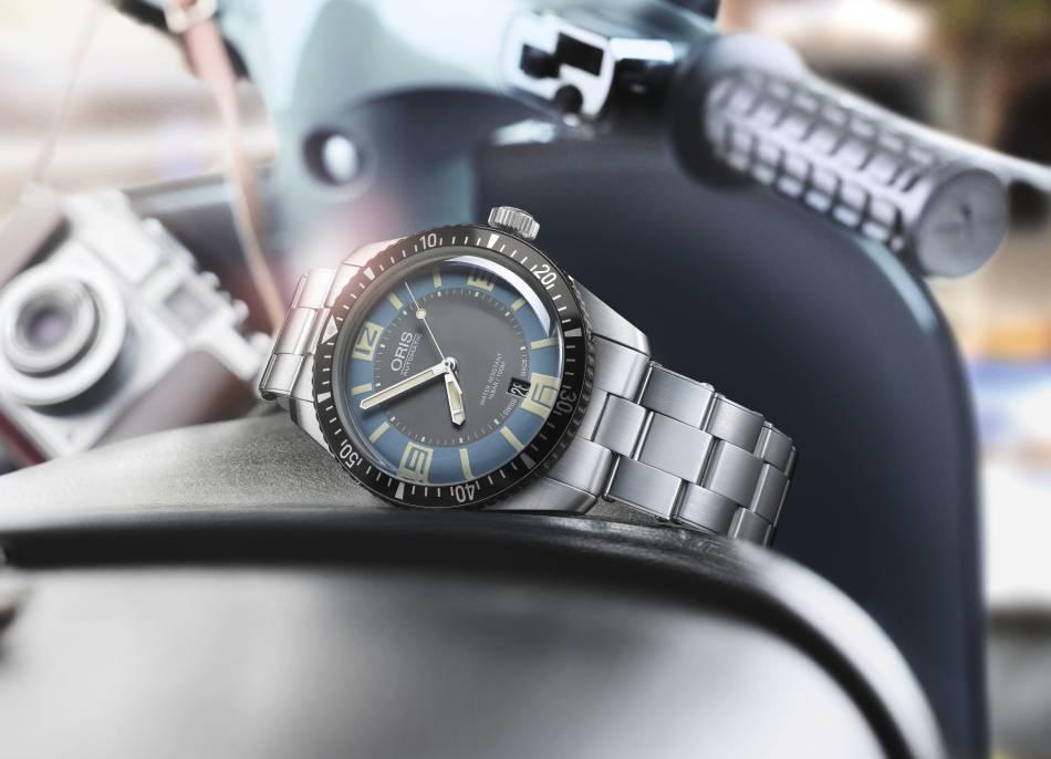 """Oris : """"bracelet d'époque"""" pour sa Divers Sixty-Five"""