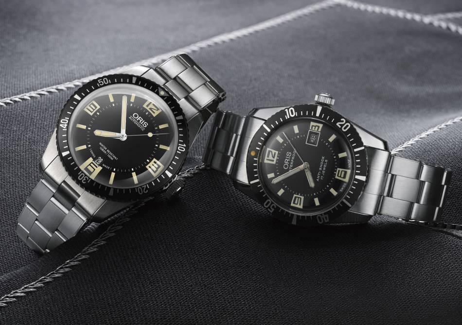 A gauche, la montre de 2016 et à droite celle de 1965