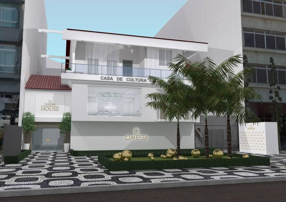 Eddie Redmayne inaugure la Maison Omega à Rio de Janeiro