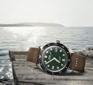 Oris Diver Sixty-Five : cadran vert