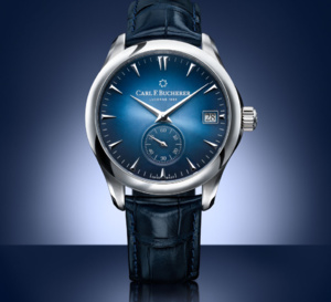 Carl F. Bucherer Manero Peripheral : série spéciale bleue