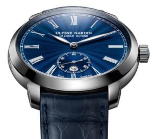 Ulysse Nardin Classico Manufacture : émail Grand Feu bleu