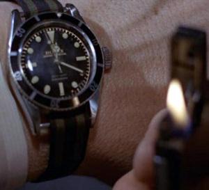 Goldfinger : Sean Connery porte une Rolex Submariner