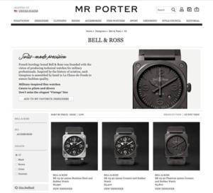Bell & Ross intègre le catalogue Mr Porter
