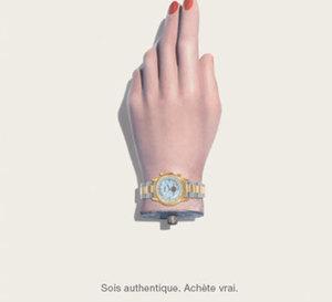 « Fake watches are for fake people ! » un slogan fort contre la contrefaçon des montres de luxe