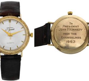 Antiquorum met en vente les montres de J.F. Kennedy et de Gandhi