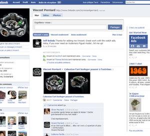 Le monde de l'horlogerie de luxe s'installe sur Facebook