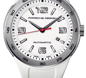 Porsche Design Flat Six P'6310 : une monter acier toute de blanc vêtue…