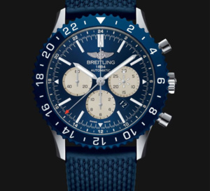 Breitling Chronoliner manuf' : du bleu pour la version boutique