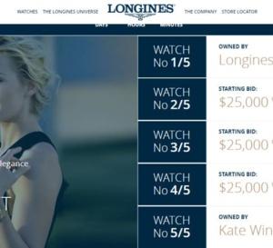 Longines : trois Flagship Heritage en vente au profit de l'association de Kate Winslet