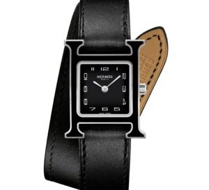 Hermès : l'Heure H s'habille de laque noire ou blanche
