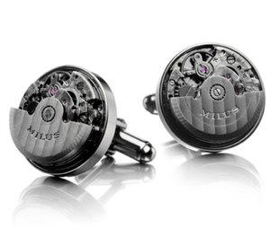 Milus : de nouveaux boutons de manchette à rotor mobile recouvert de PVD noir