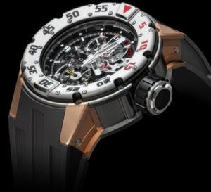 Du Kalrez pour le bracelet de la RM 025, la montre de plongée Richard Mille