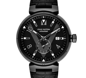 Louis Vuitton Tambour All Black petite seconde