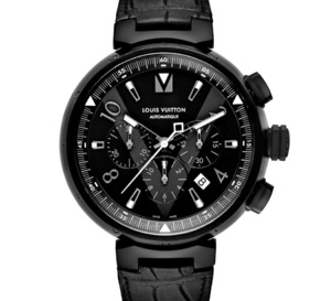 Louis Vuitton Tambour All Black chrono