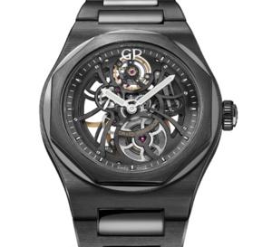 Girard-Perregaux Laureato Skeleton Ceramic : une montre tout en clair-obscur