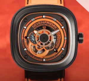 SevenFriday Kuka III : orange mécanique