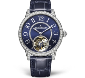Jaeger-LeCoultre Rendez-Vous Tourbillon or gris cadran bleu et diamants