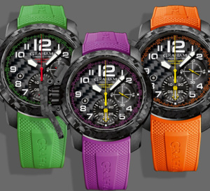 Graham Chronofighter Superlight Carbon : de la couleur !