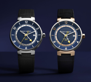 Louis Vuitton Tambour Moon Blue GMT : tendance bleue