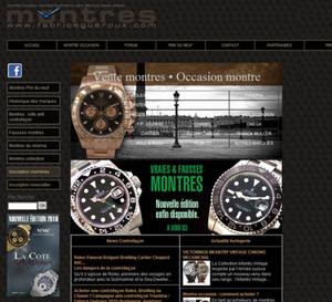 Fabricegueroux.com : Fabrice Guéroux se lance dans la vente de montres d'occasion