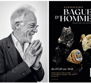 Expo Bagues d'hommes, collection Yves Gastou à l'Ecole des Arts joailliers à Paris