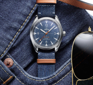 Omega Railmaster Co-Axial Master Chronometer 40 mm : modèle denim