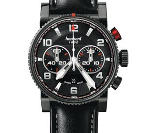 Hanhart Primus : Pilot, Racer et Diver, noir c'est noir