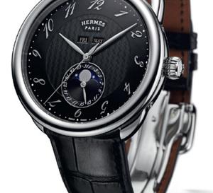 Hermès Arceau Grande Lune : quantième complet et phases de Lune