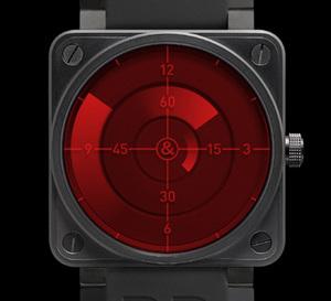 Bell & Ross BR 01 Red Radar : une montre inspire des radars de contrôle aérien
