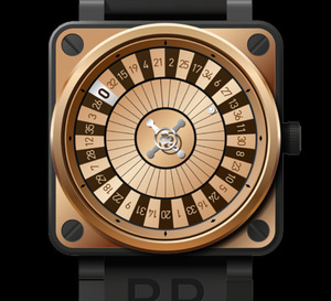 Bell & Ross BR01 Casino Pink Gold Only Watch 2011 : faites vos jeux, rien ne va plus !