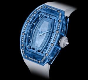 Richard Mille RM 07 - 02 saphir serti : montre hautement technique et très féminine