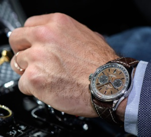 Breitling Bentley Centenary Limited Edition : beau cadran en loupe d'orme