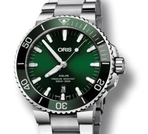 """Oris Aquis Date """"verte"""" : plongeuse efficace, contemporaine et abordable"""