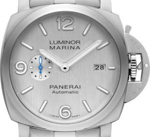 Officine Panerai Luminor Marina cadran argenté pour montre monochrome