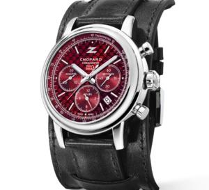 Chopard Mille Miglia Classic chrono Zagato : cadran rouge laqué et bracelet bund