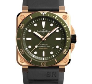 BR 03-92 Diver : boitier bronze et cadran vert à 999 exemplaires