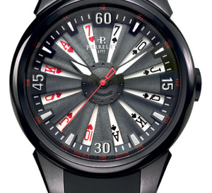 Perrelet Turbine Poker : montre en main, carte sur table