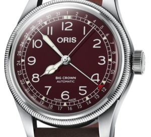 Oris Big Crown Pointer Date : cadran carmin