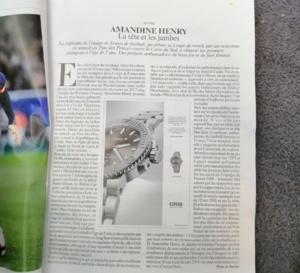 Oris : un étonnant format publicitaire dans Le Figaro Magazine