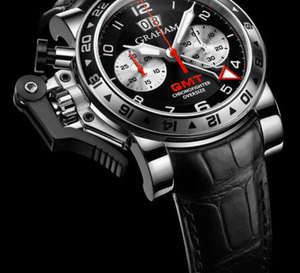 Graham London Chronofighter Oversize GMT Black Steel