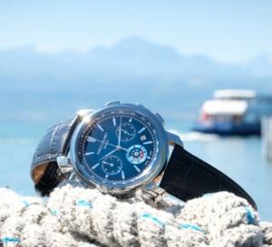 Emile Chouriet Lac Léman chronograph blue : acier et tungstène
