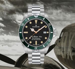 Edox SkyDiver Military : montre de paras