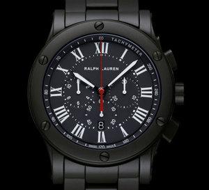 Ralph Lauren Sporting Chronograph Black Ceramic : la céramique fait son entrée chez Ralph Lauren