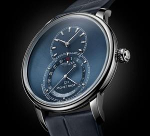 Jaquet Droz Grande Seconde Quantième : l'heure bleue en 39 ou 43 mm